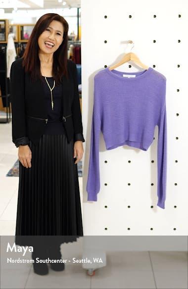 Rhonda Crop Fuzzy Sweater, sales video thumbnail