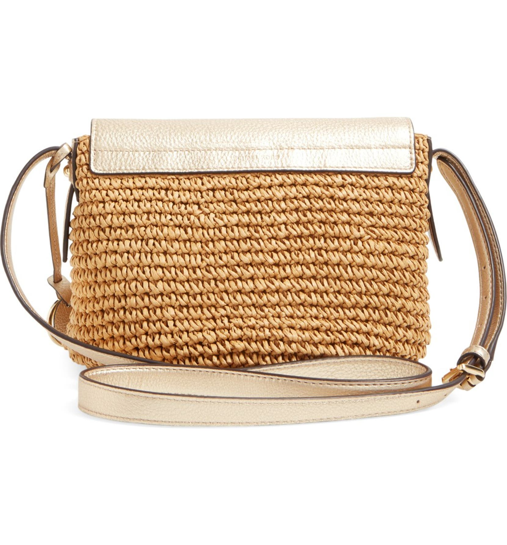 cb5052709 MICHAEL Michael Kors 'Medium Naomi' Straw Crossbody Bag | Nordstrom