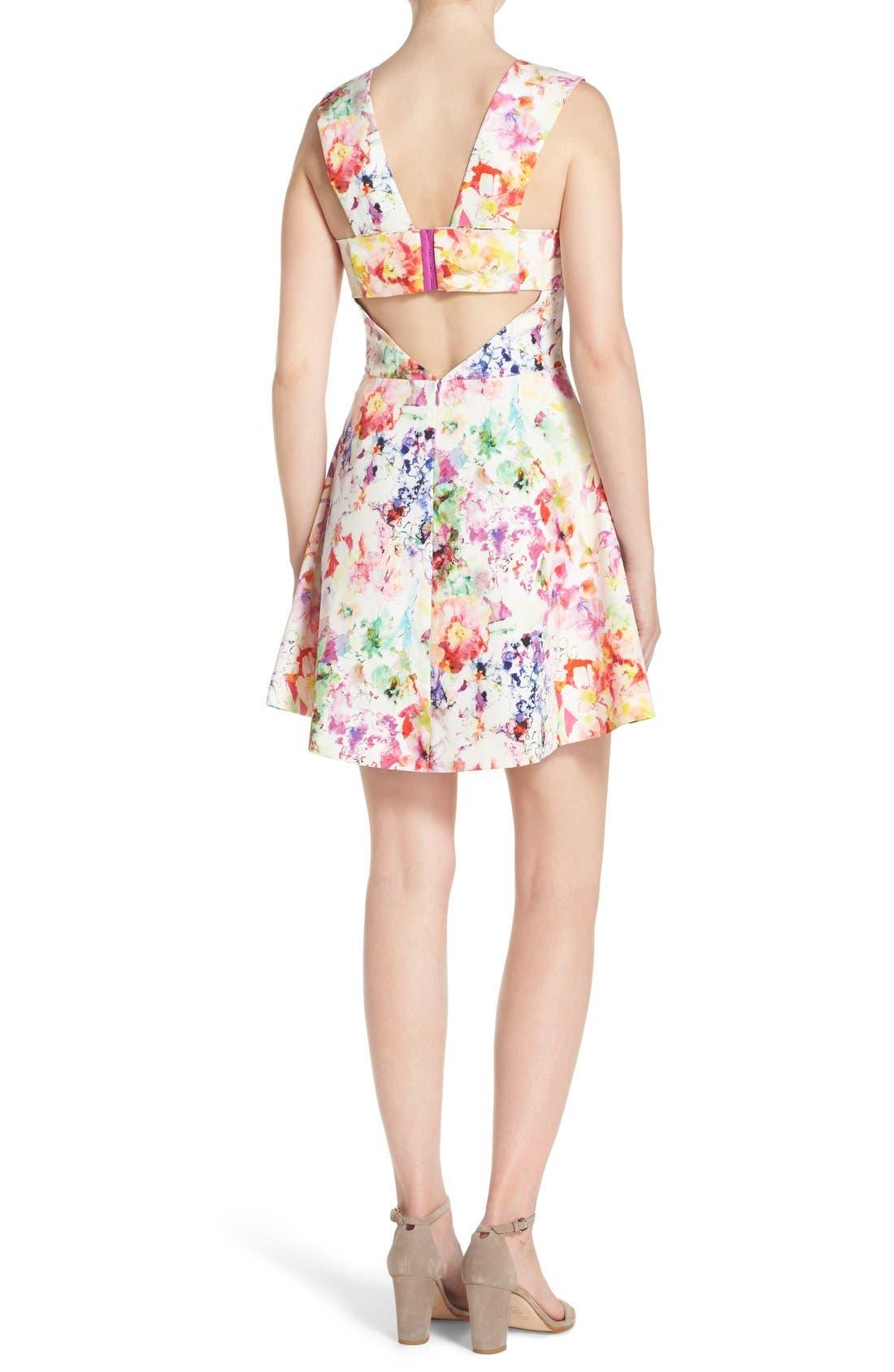 ,                             Bianca Back Cutout Fit & Flare Dress,                             Alternate thumbnail 67, color,                             663