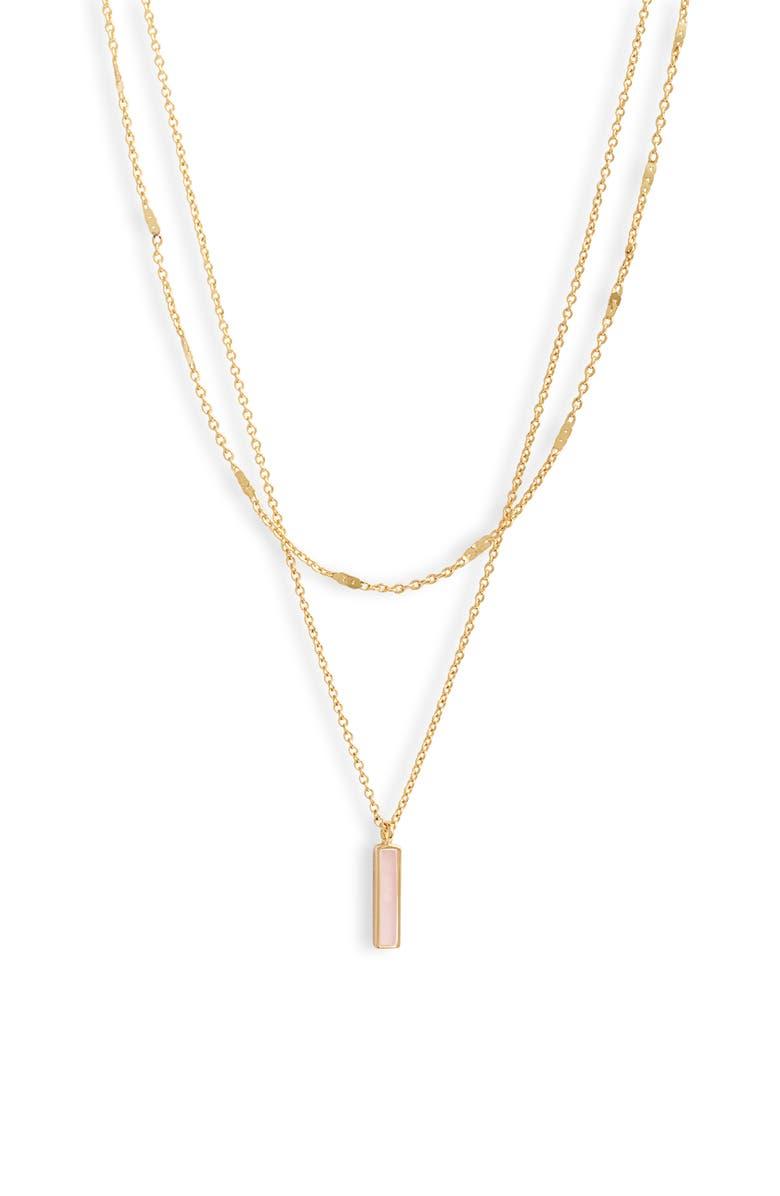 GORJANA Montecito Bar Layered Necklace, Main, color, 710