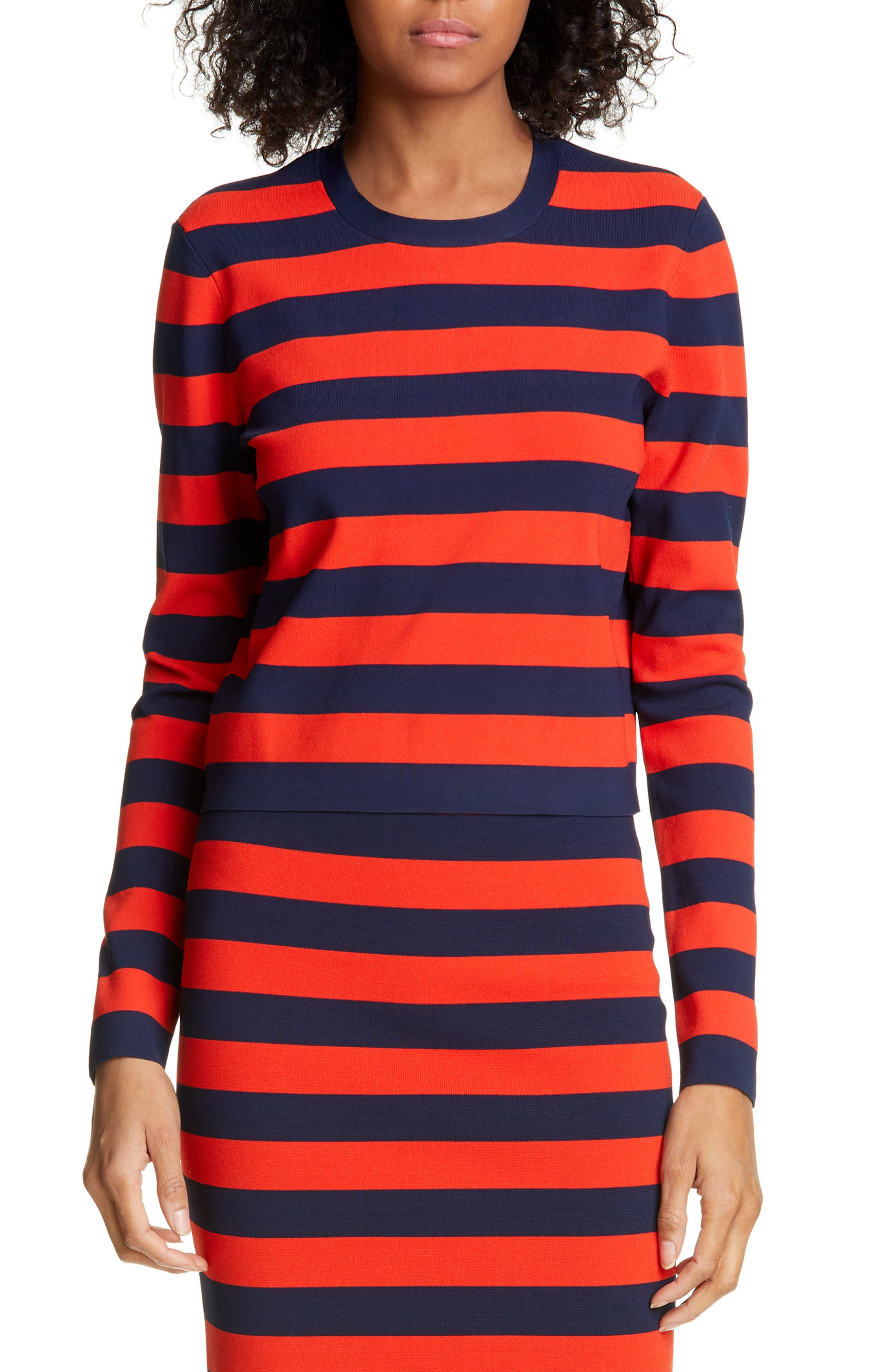 ,                             Broome Stripe Sweater,                             Main thumbnail 1, color,                             RED MULTI