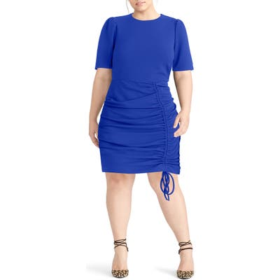 Plus Size Rachel Rachel Roy Scuba Crepe Back Minidress, Blue