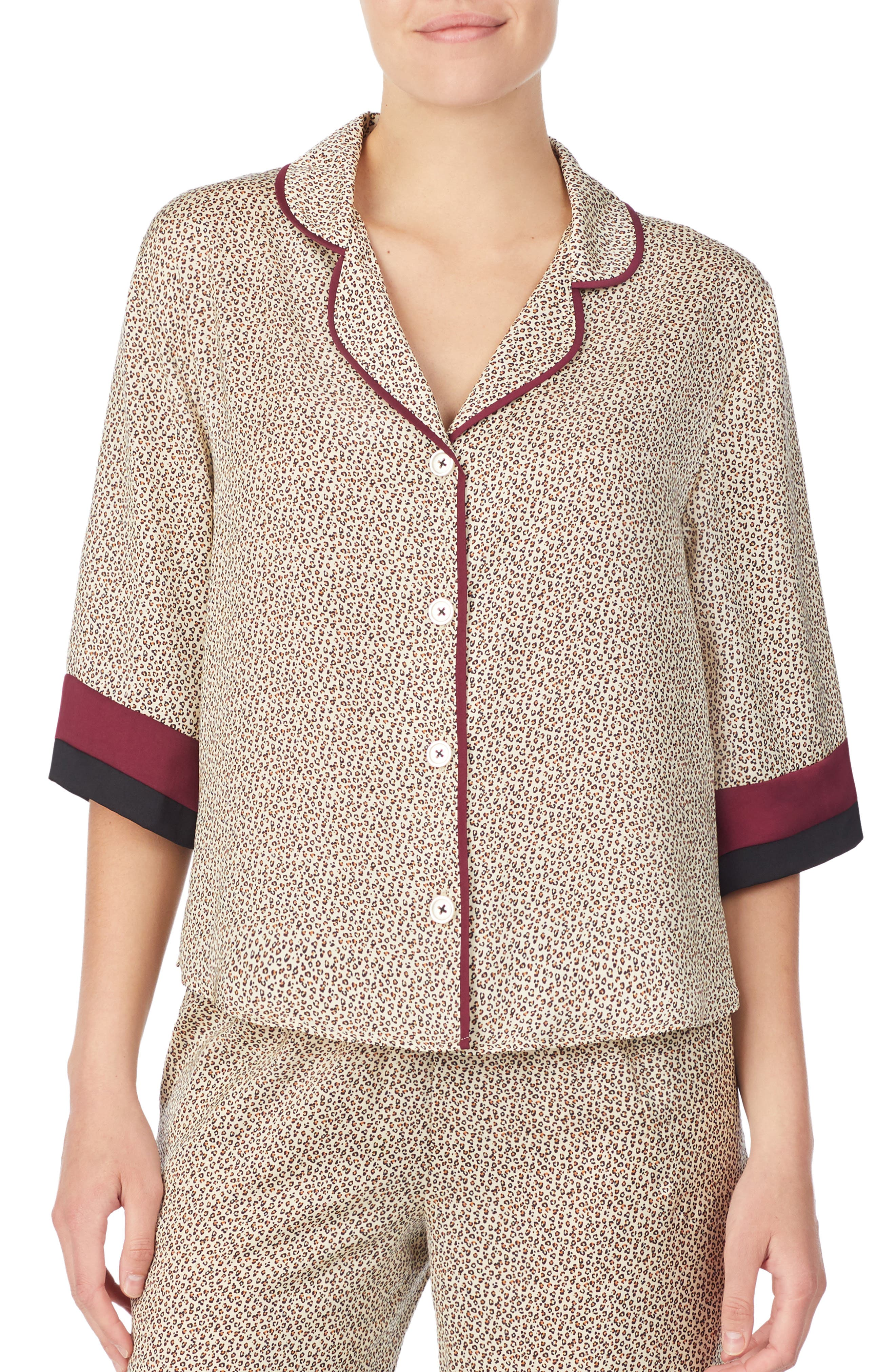 Room Service Pajama Top, Brown (Nordstrom Exclusive)