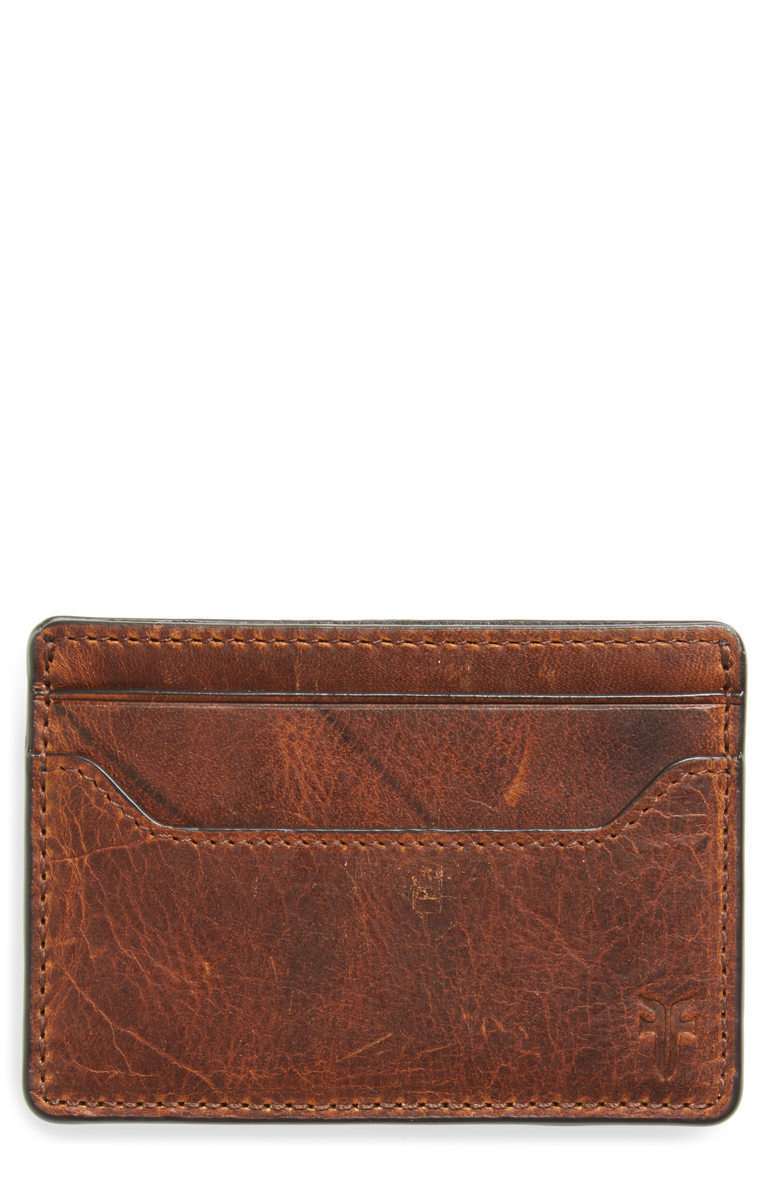 ,                             Logan Leather Money Clip Card Case,                             Main thumbnail 3, color,                             235