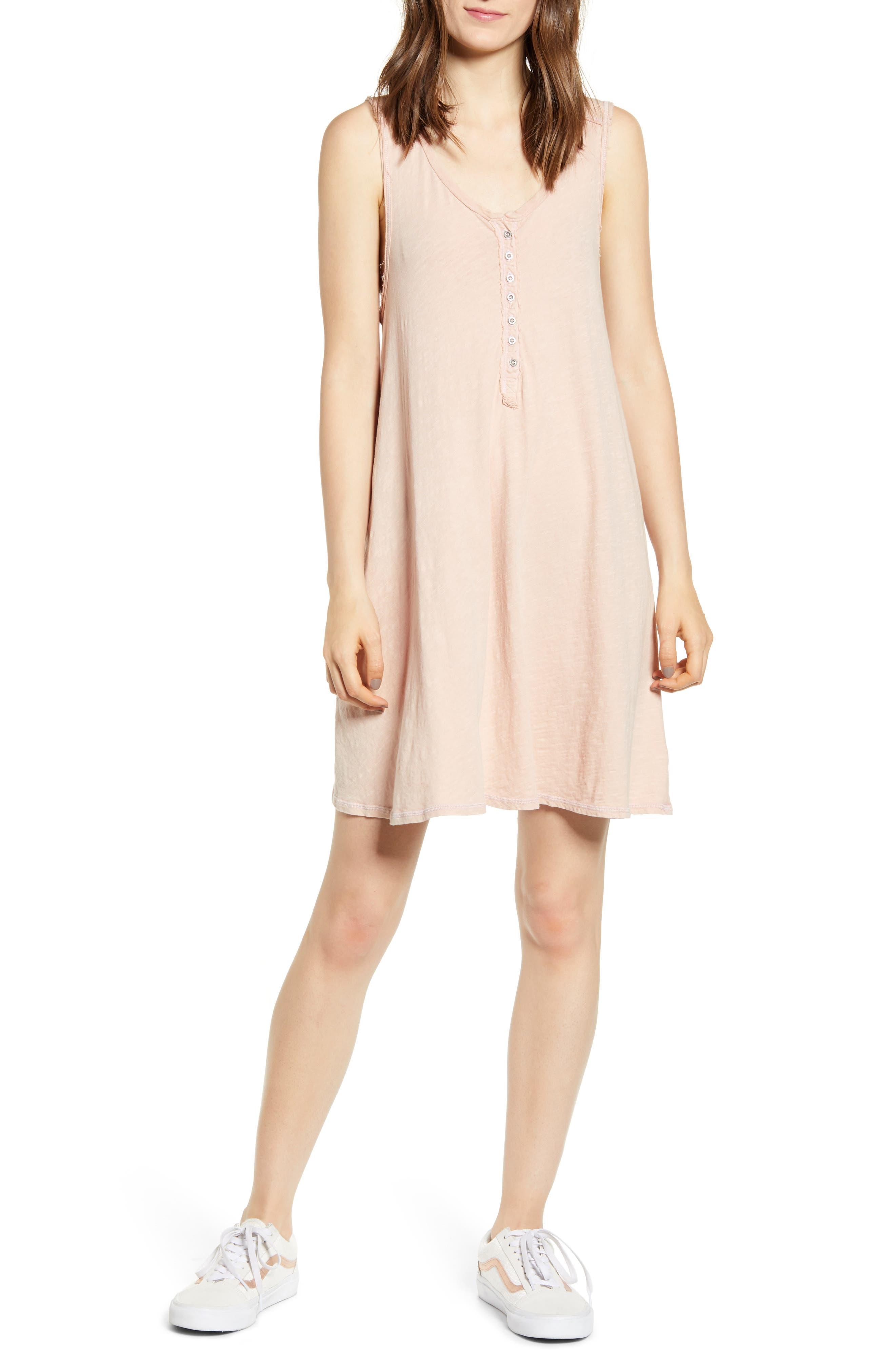 Billabong Last Call Cotton Dress, Pink