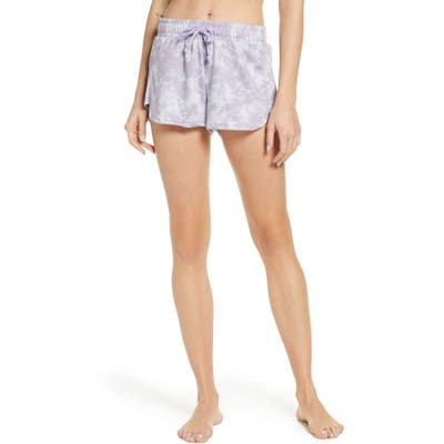 Onzie Divine French Terry Lounge Shorts, Purple