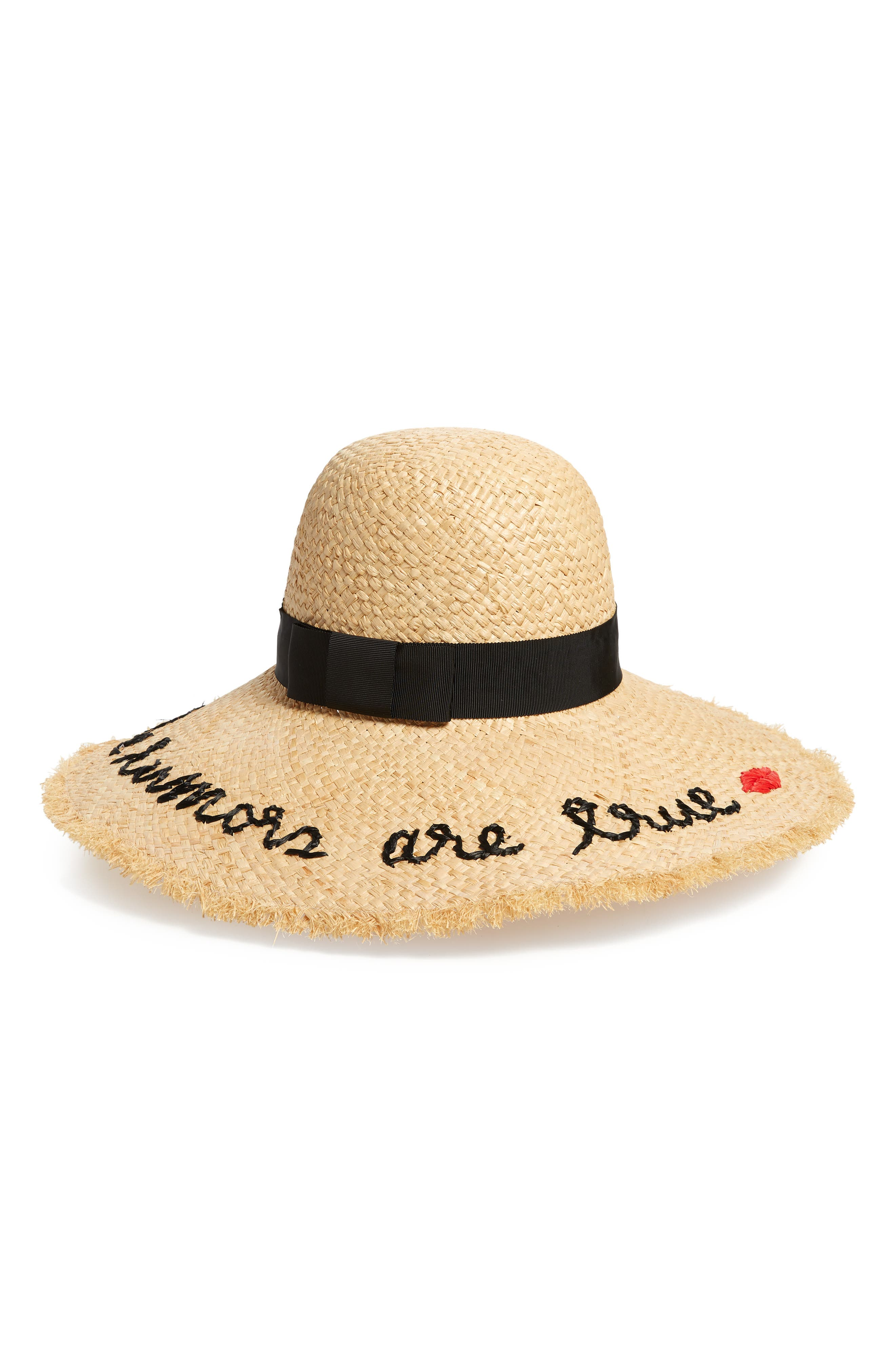 the rumors are true raffia hat, Main, color, NATURAL
