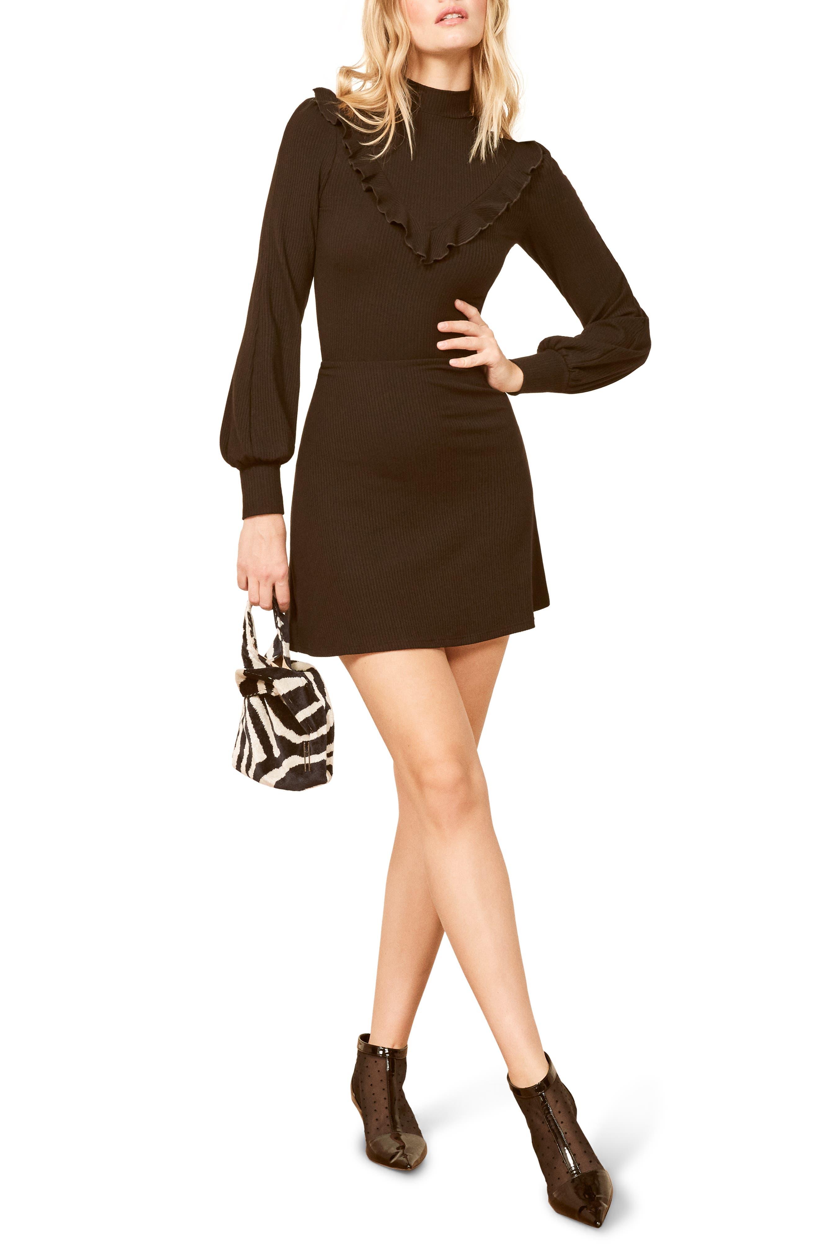 Reformation Chapel Dress, Black