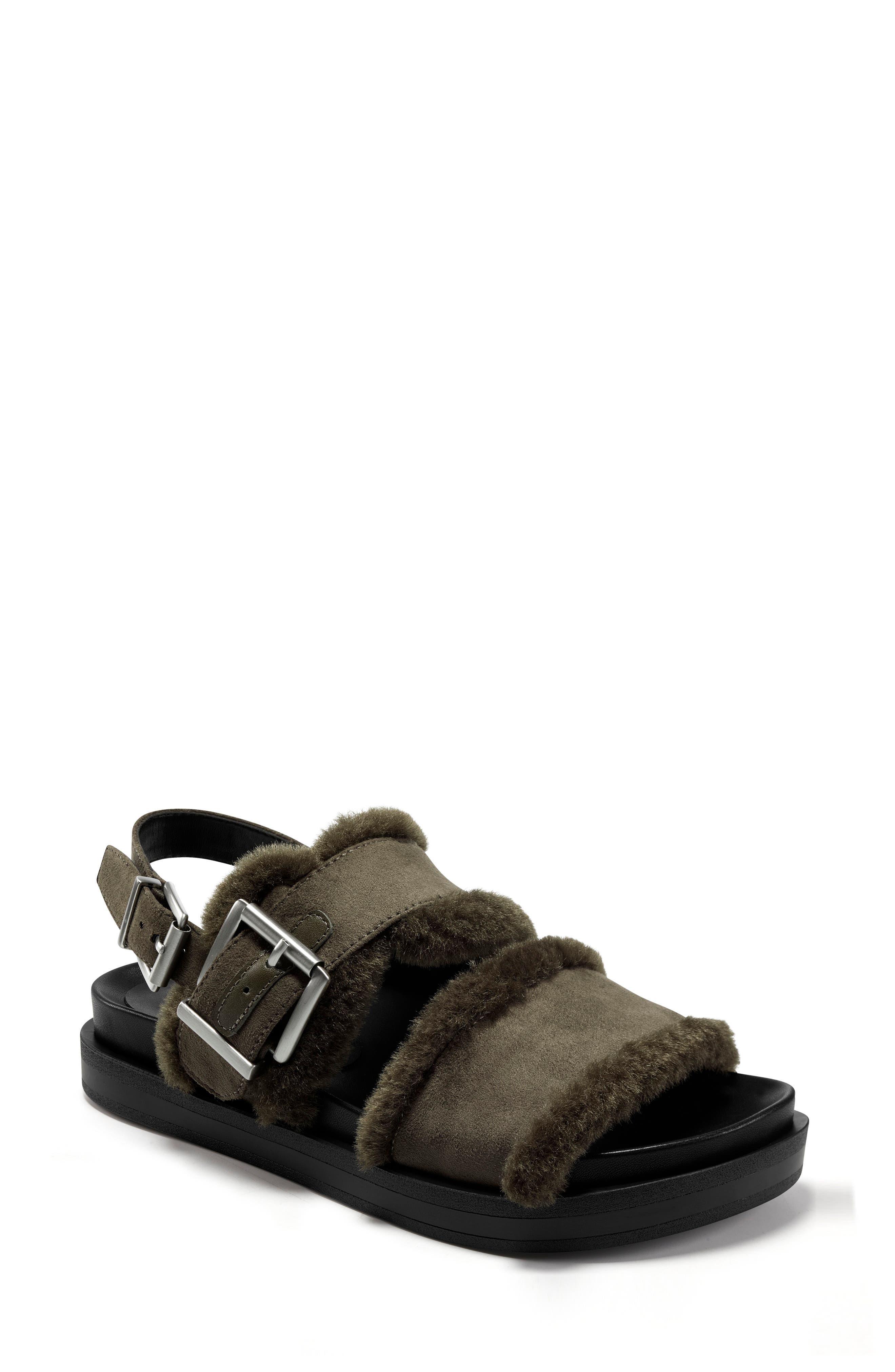 Lada Faux Shearling Slingback Sandal