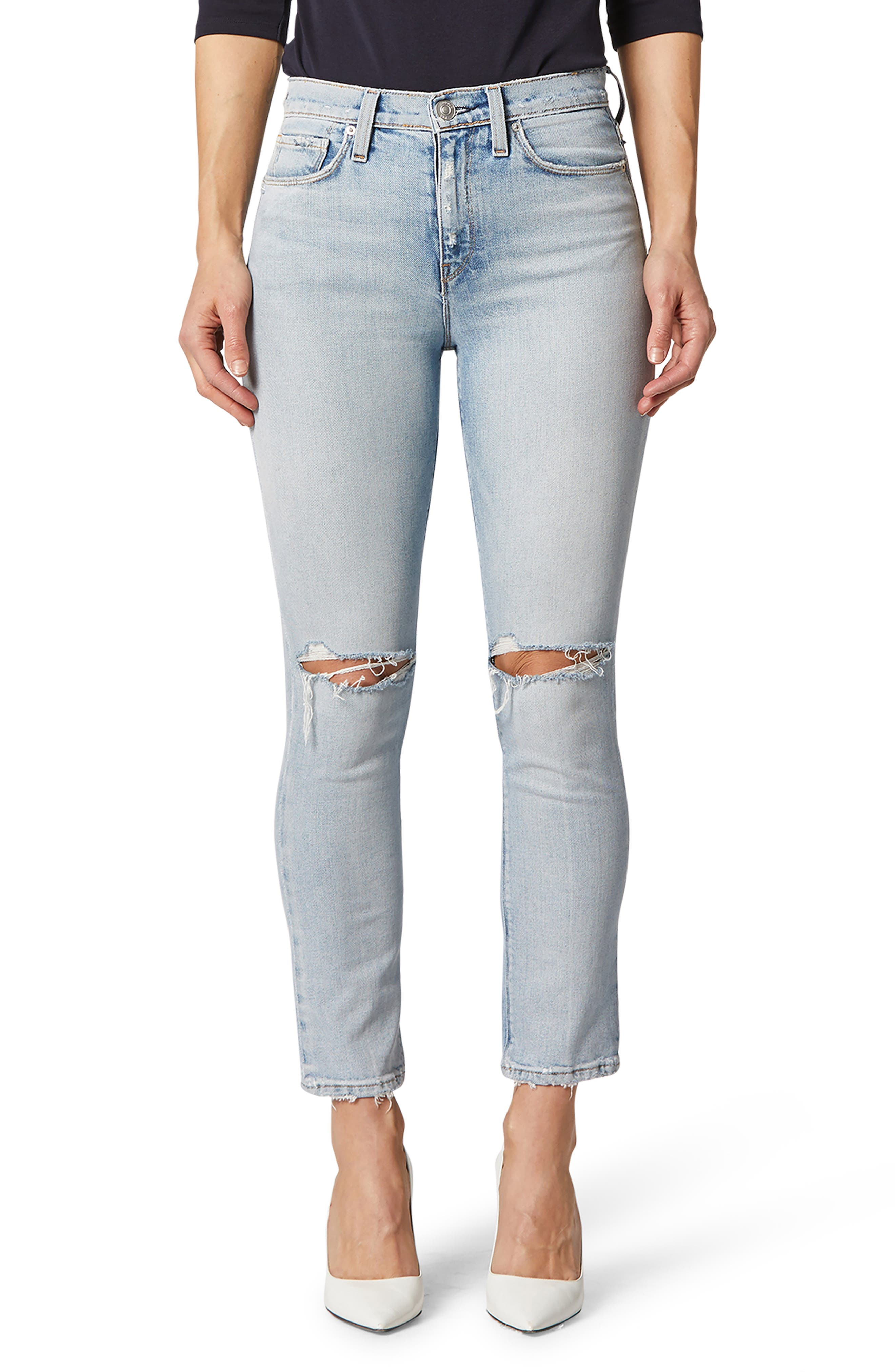 Keep your casual look on point with these stretch-denim skinny jeans in an ankle-grazing cut. Style Name: Hudson Jeans Holly High Waist Ankle Skinny Jeans. Style Number: 5956117 1. Available in stores.