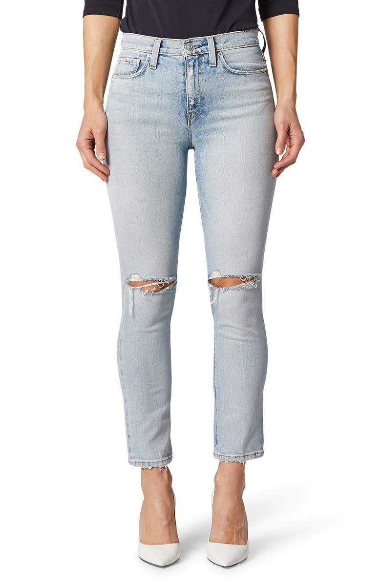 HUDSON JEANS Holly High Waist Ankle Skinny Jeans, Main, color, WASHED OUT