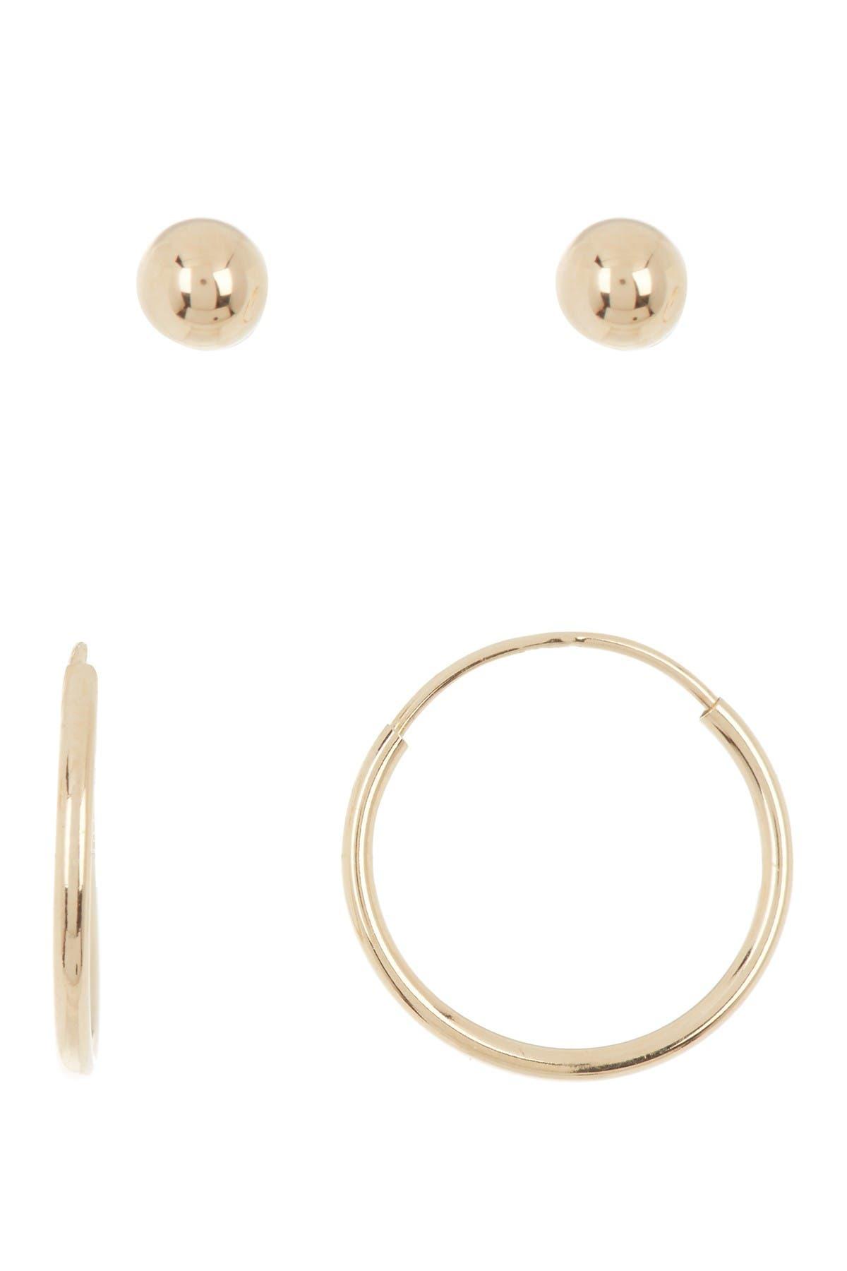 Image of Candela 14K Gold Hoop & Stud Earrings Set
