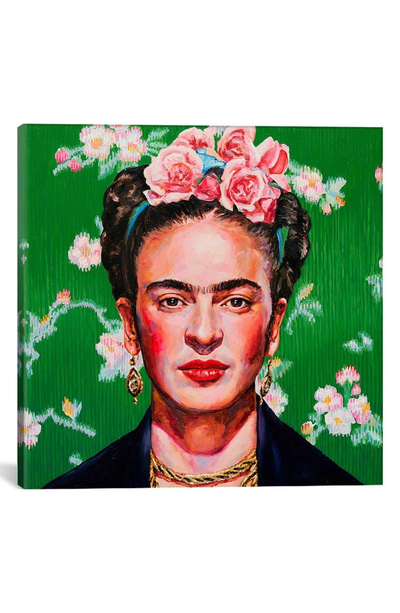 ICANVAS Frida by Oleksandr Balbyshev Giclée Print Canvas Art, Main, color, GREEN