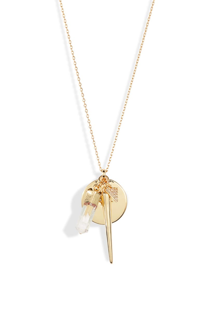 UNCOMMON JAMES BY KRISTIN CAVALLARI Charms Necklace, Main, color, GOLD