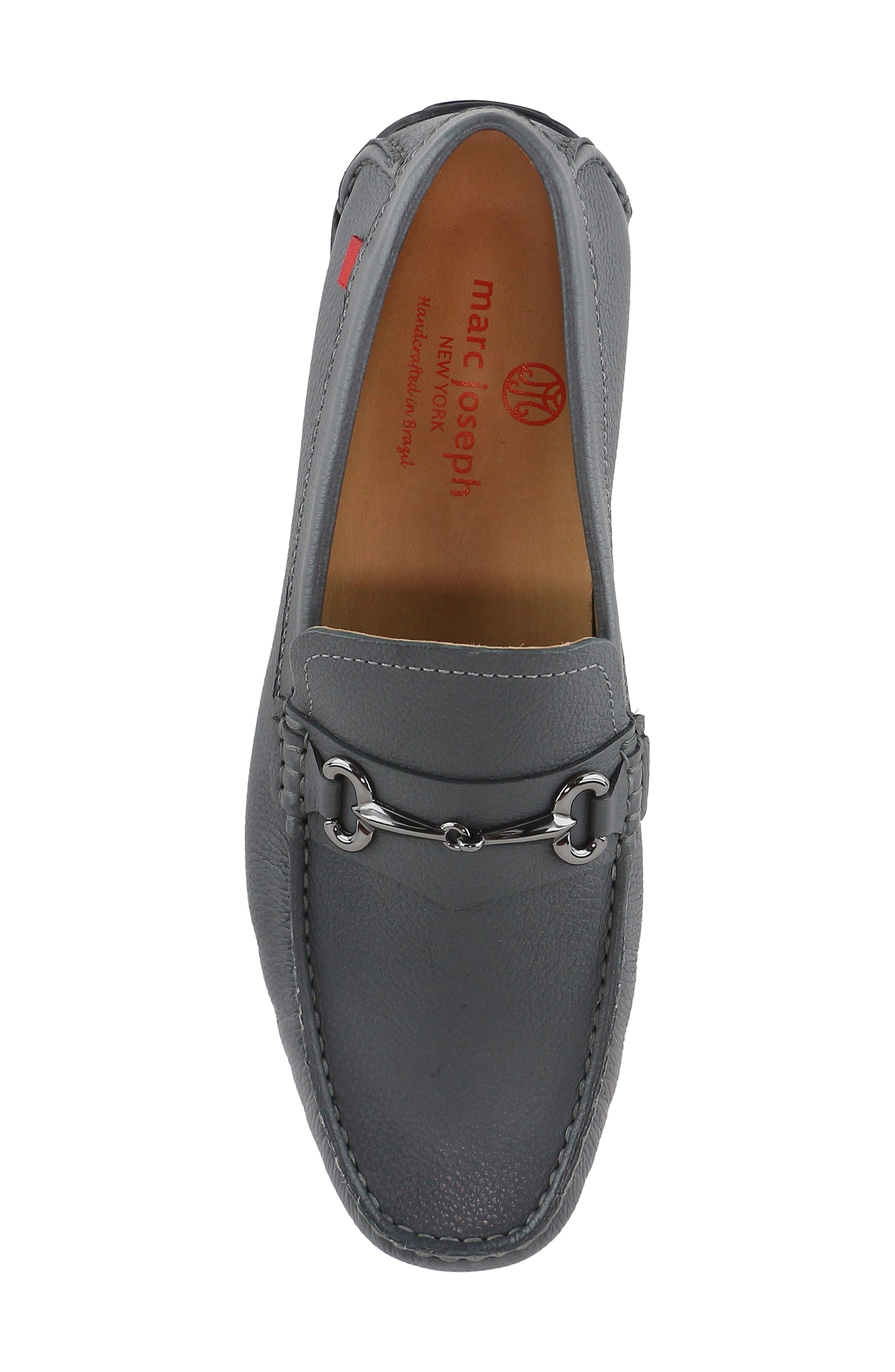 ,                             Wall Street Driving Shoe,                             Alternate thumbnail 5, color,                             GREY LEATHER