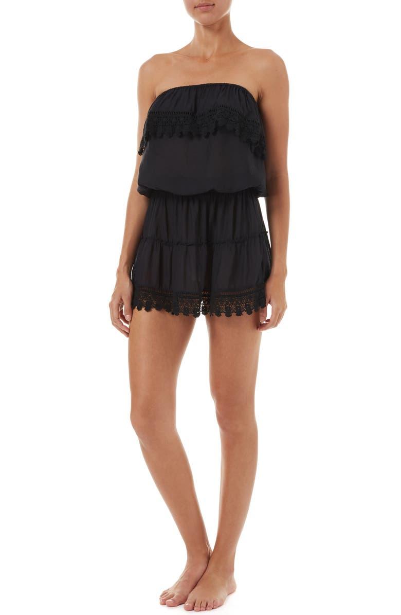 MELISSA ODABASH Joy Cover-Up Dress, Main, color, BLACK