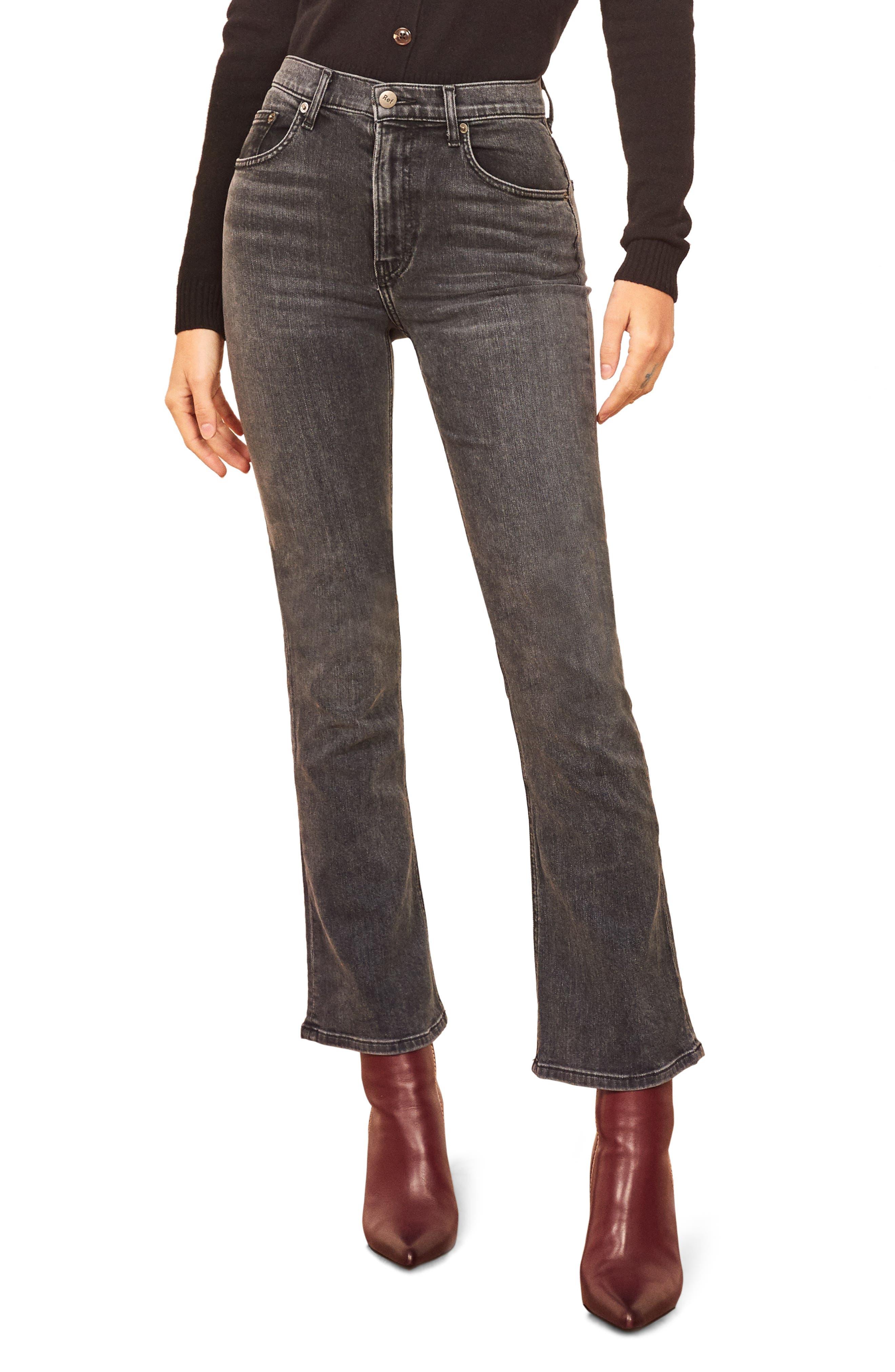 Reformation Jessie High Waist Crop Bootcut Jeans (Redondo)