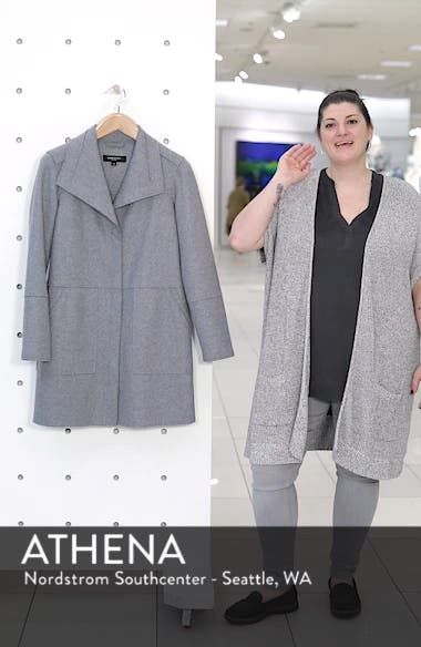 Envelope Collar Wool Blend Knit Coat, sales video thumbnail