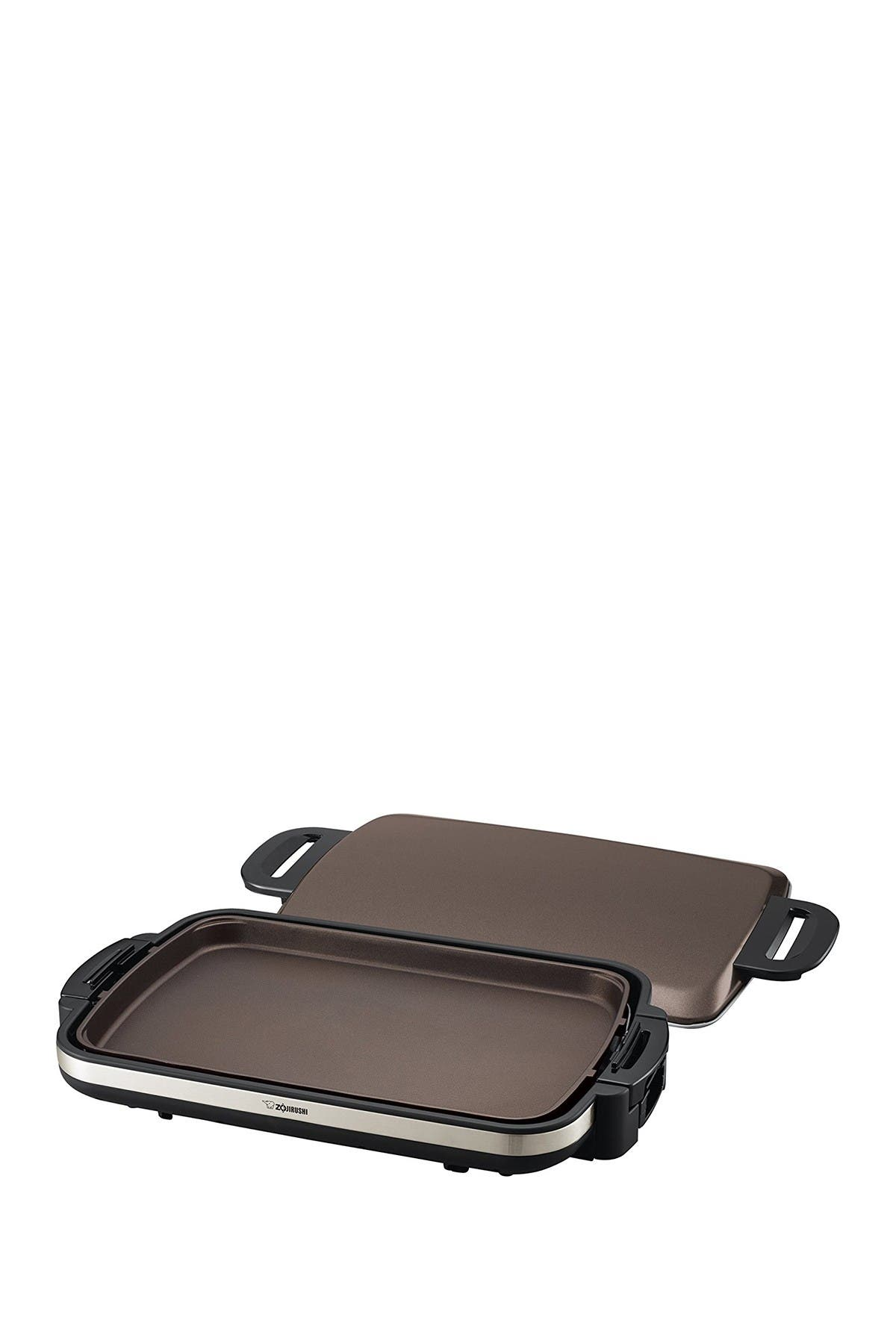 Image of ZOJIRUSHI Gourmet Sizzler Electric Griddle - Stainless Brown
