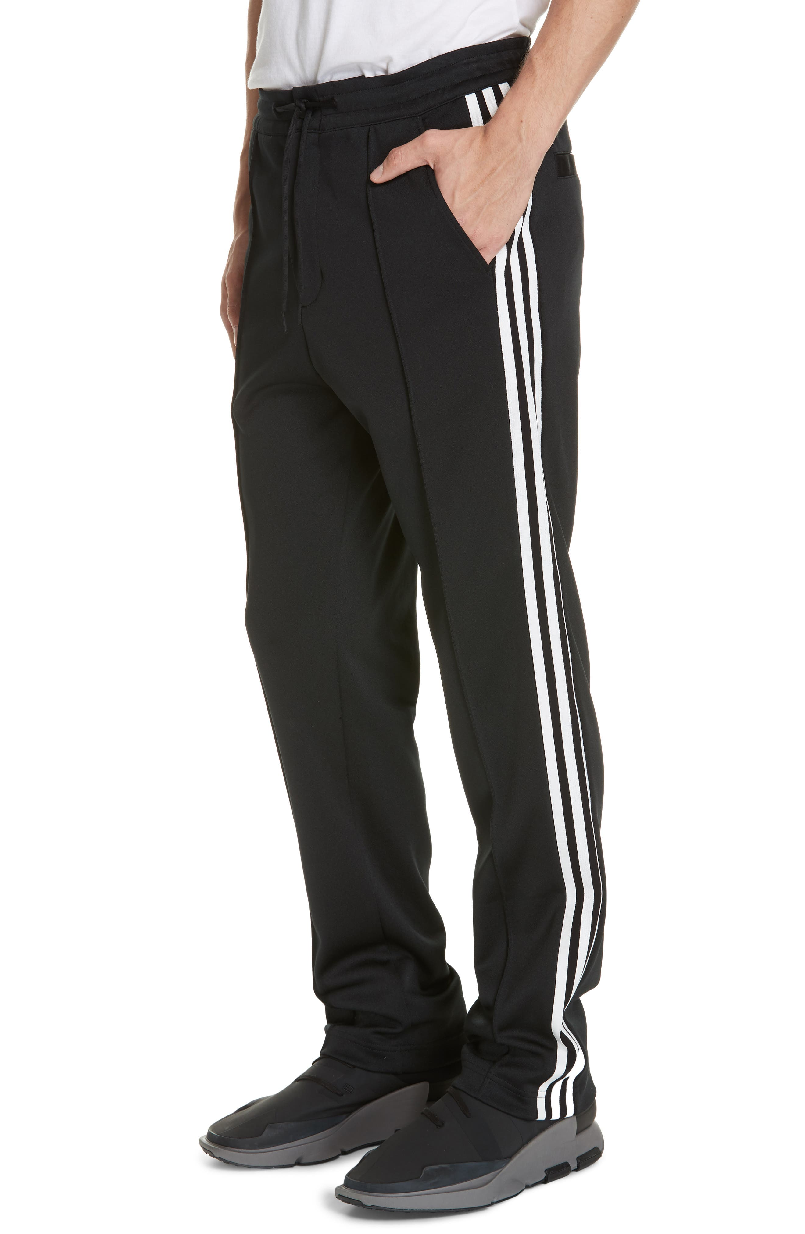,                             x adidas 3-Stripes Track Pants,                             Alternate thumbnail 4, color,                             BLACK