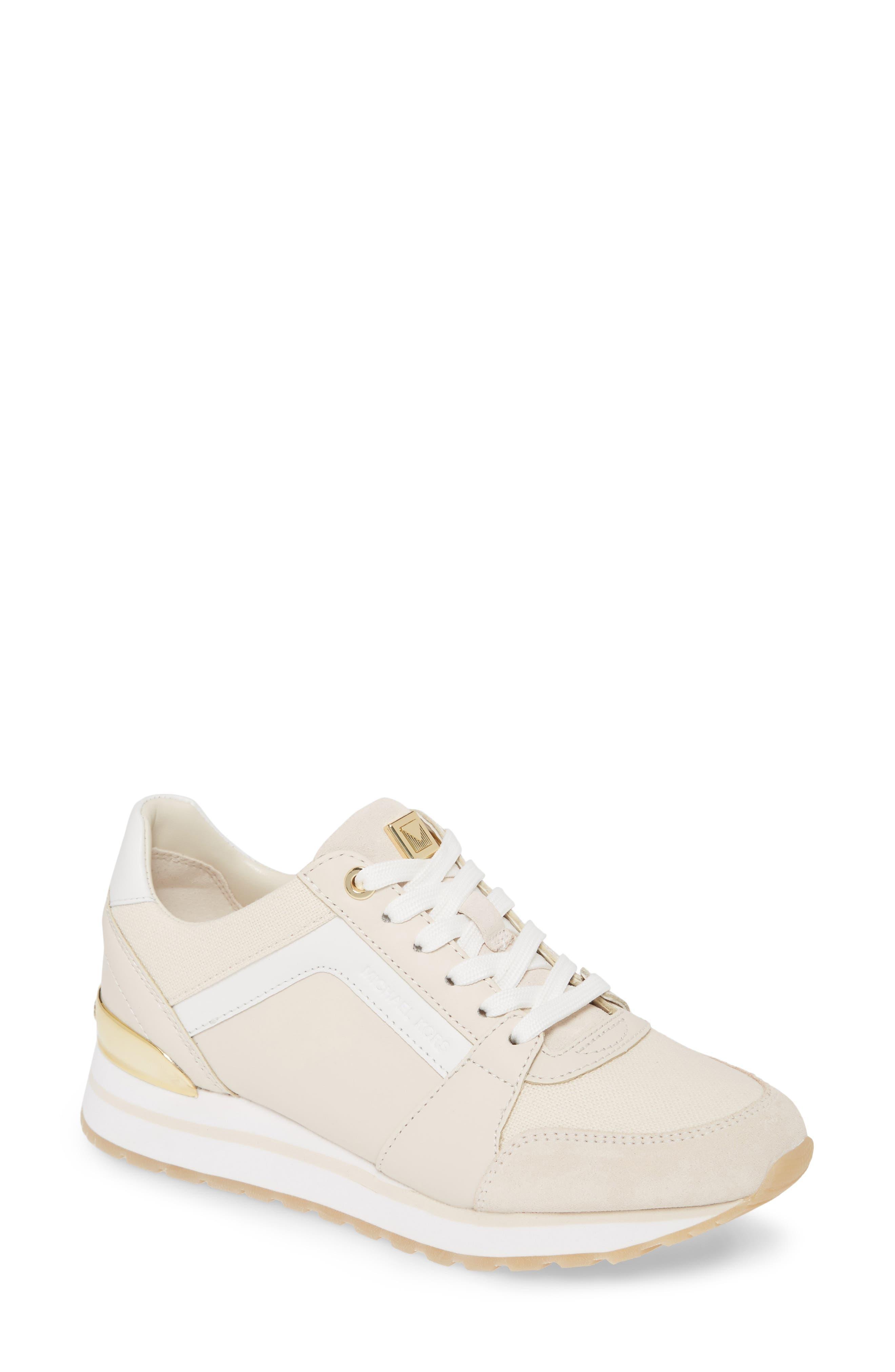 Michael Michael Kors Billie Perforated Sneaker- Ivory