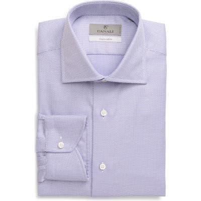 Canali Regular Fit Geo Non-Iron Dress Shirt, Purple