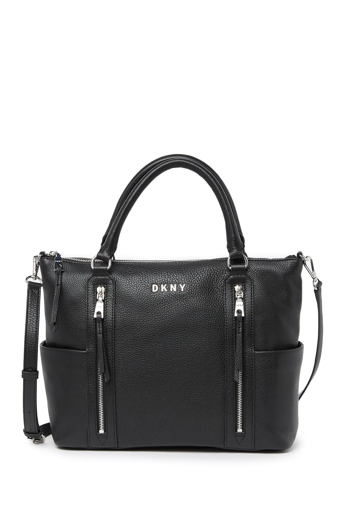 Image of DKNY Tappen Leather Satchel