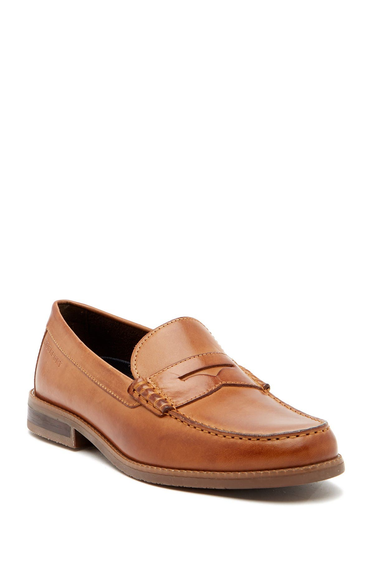 Image of Rockport Curtys Leather Penny Loafer - Wide Width Available
