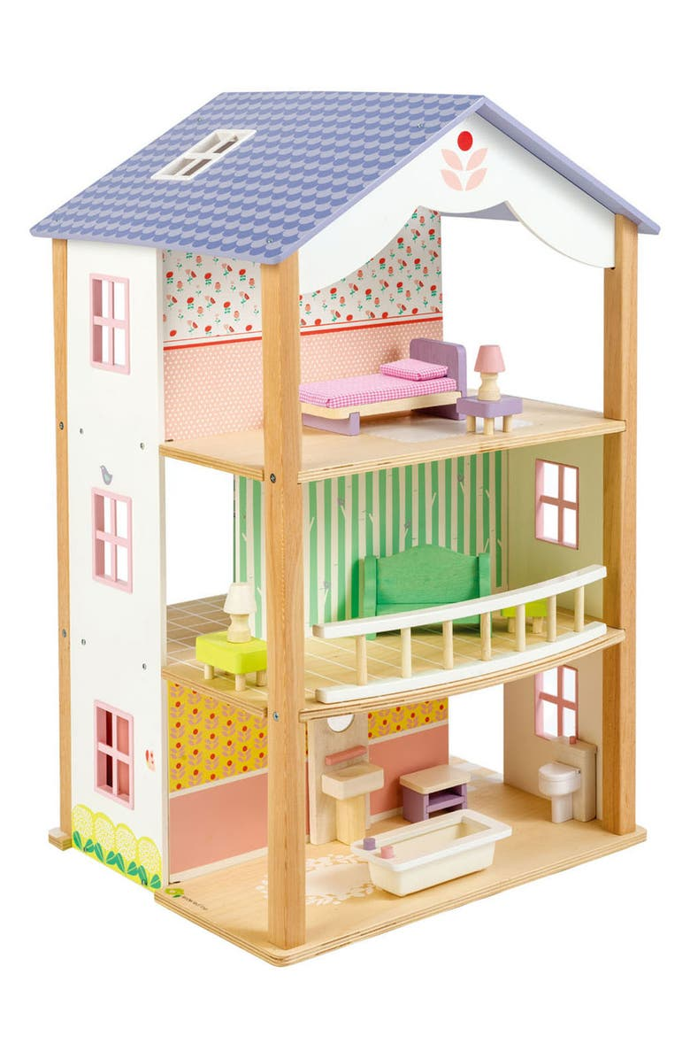 TENDER LEAF TOYS Bluebird Villa Dollhouse, Main, color, MULTI