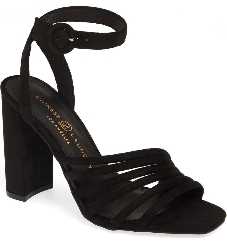 CHINESE LAUNDRY Jonah Ankle Strap Pump, Main, color, 001
