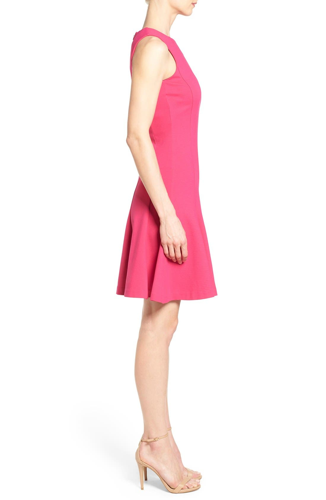 ,                             Sleeveless Seam Detail Fit & Flare Dress,                             Alternate thumbnail 10, color,                             685