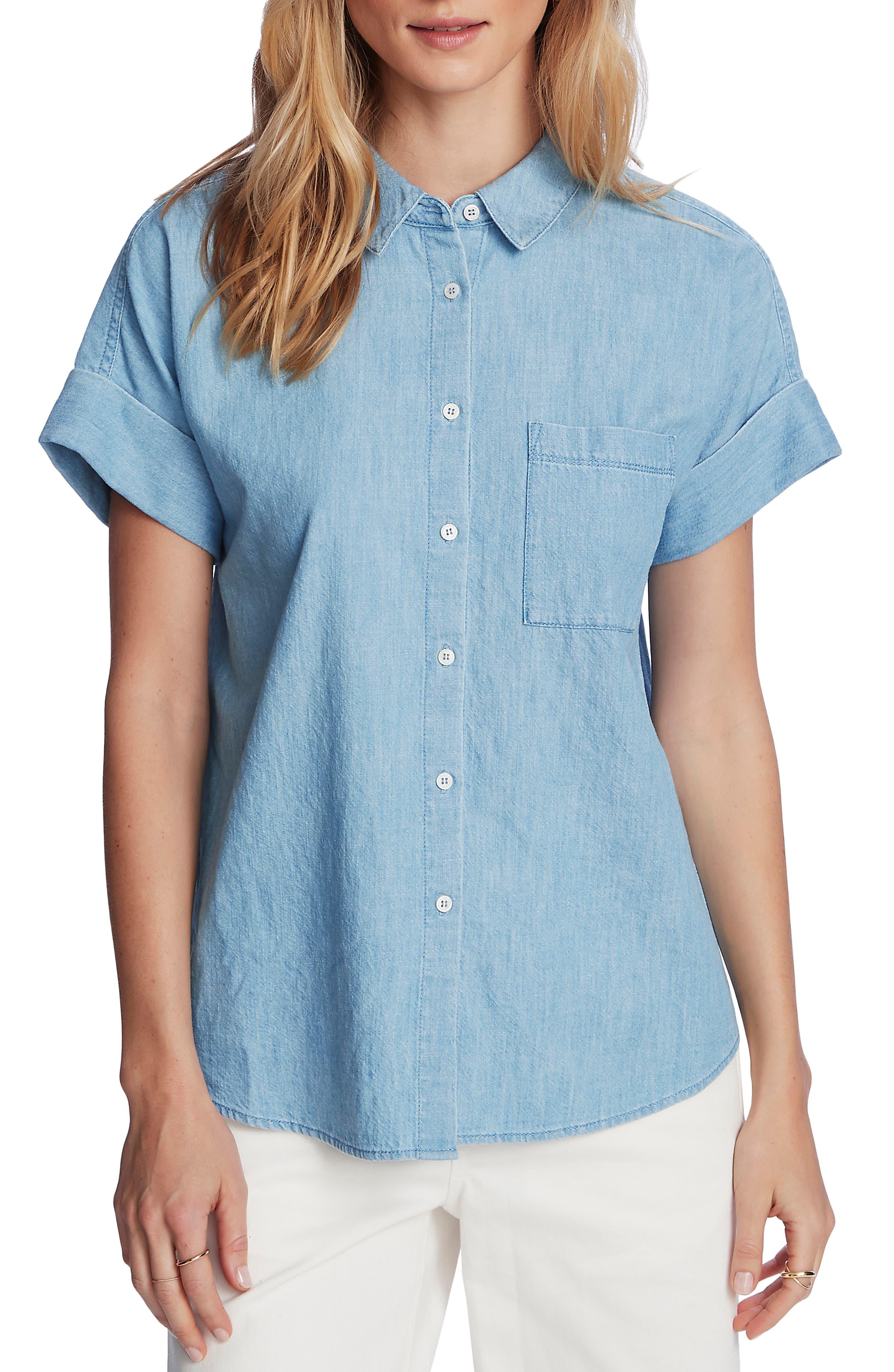 Short Sleeve Chambray Shirt