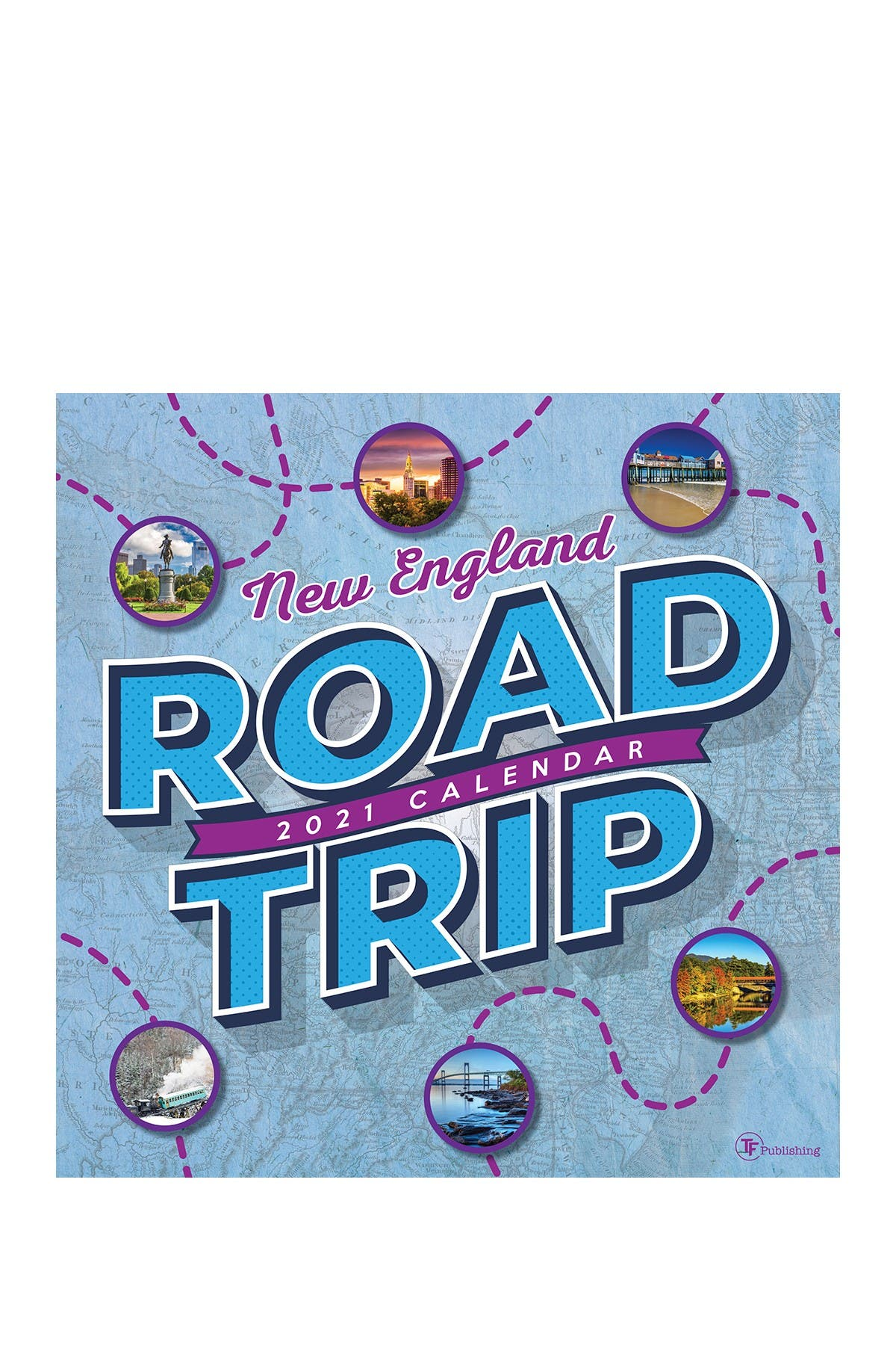 Image of TF Publishing 2021 Road Trip: New England Wall Calendar