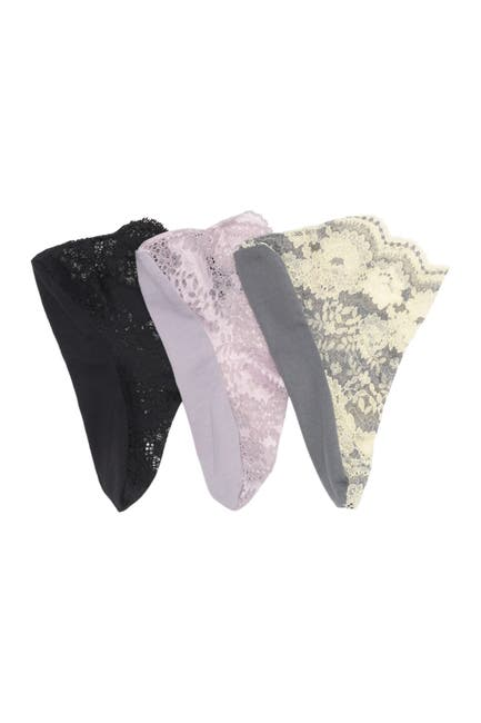 Image of Felina Galloon Lace Anklet Socks - Pack of 3