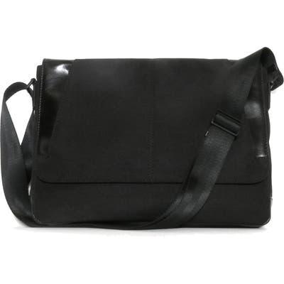 Boconi Collins Canvas Messenger Bag - Black