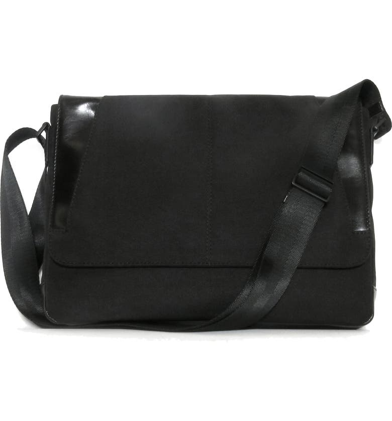 BOCONI Collins Canvas Messenger Bag, Main, color, BLACK