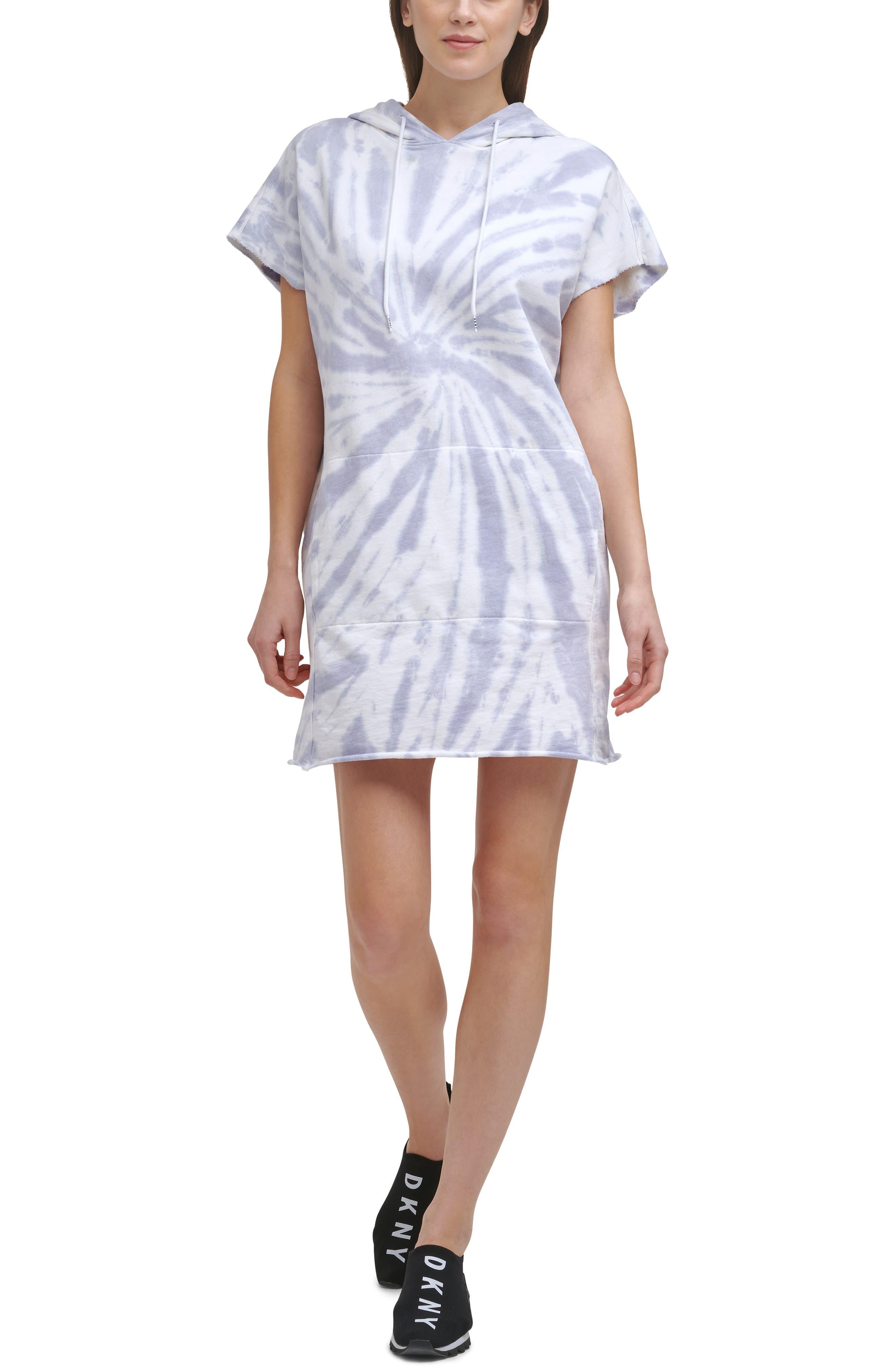 Tie Dye Hooded Sweatshirt Dress