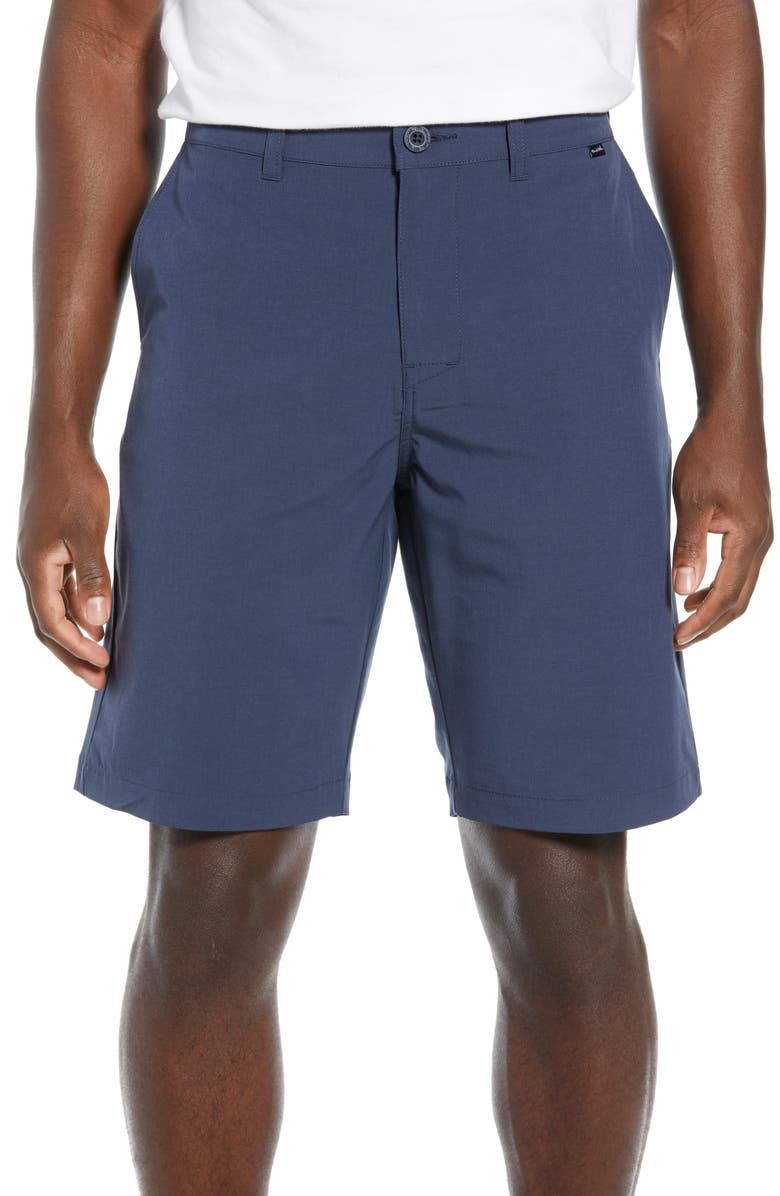 TRAVISMATHEW Beck Stretch Performance Shorts, Main, color, BLUE NIGHTS