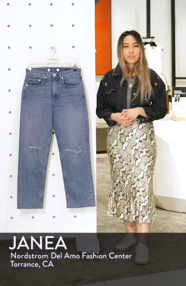 Maya High Waist Ankle Straight Leg Jeans, sales video thumbnail