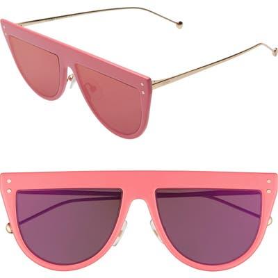 Fendi 55Mm Flat Top Sunglasses - Pink