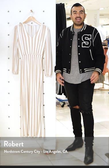 Smocked Waist Long Sleeve Maxi Dress, sales video thumbnail