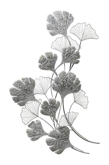 Stratton Home Ginkgo Metal Flower Wall Decor Hautelook
