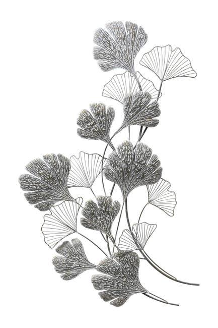 Stratton Home Ginkgo Metal Flower Wall Decor Nordstrom Rack