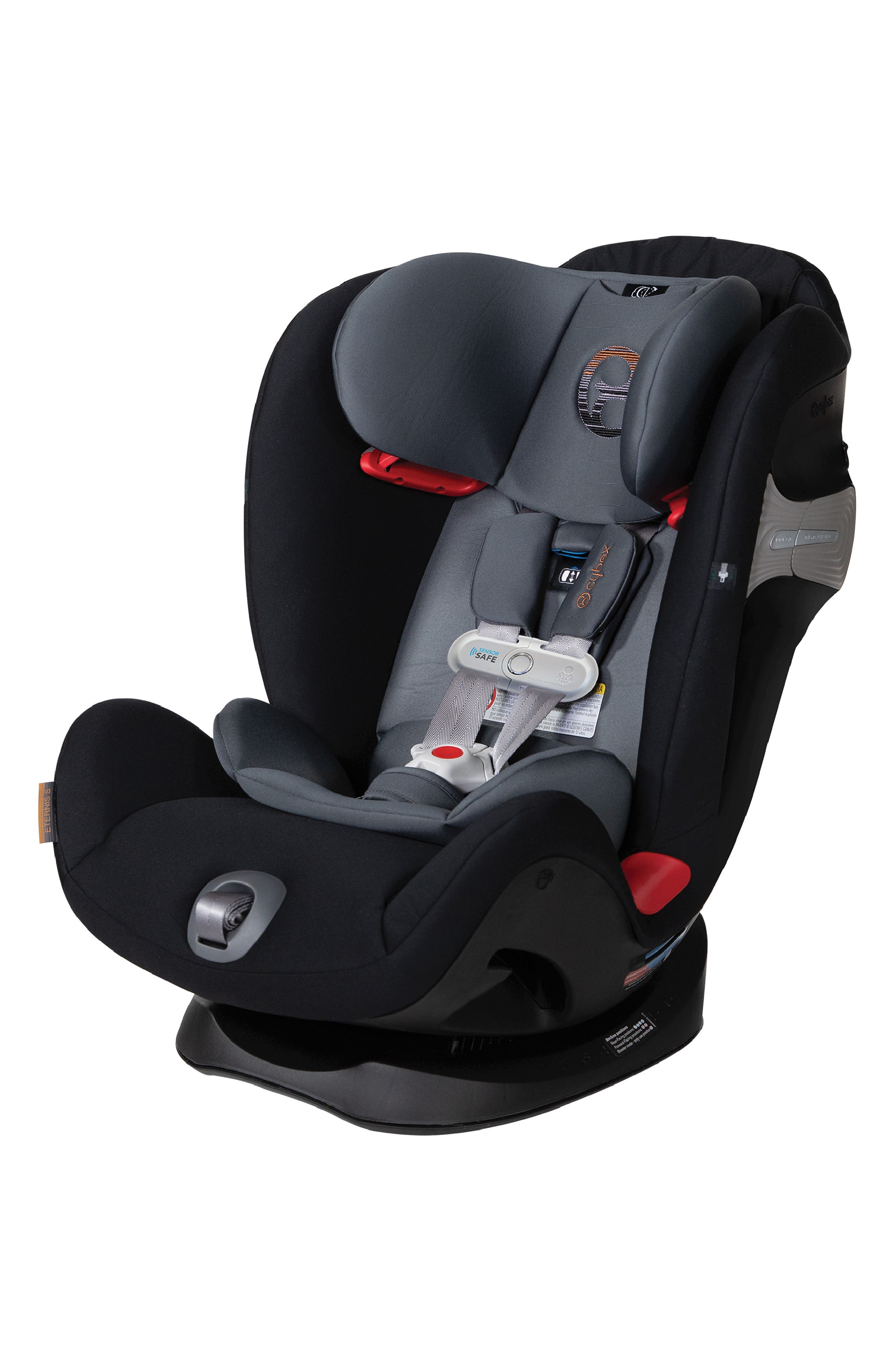 ,                             Eternis S SensorSafe<sup>™</sup> All-in-One Car Seat,                             Main thumbnail 1, color,                             BLACK/ GREY