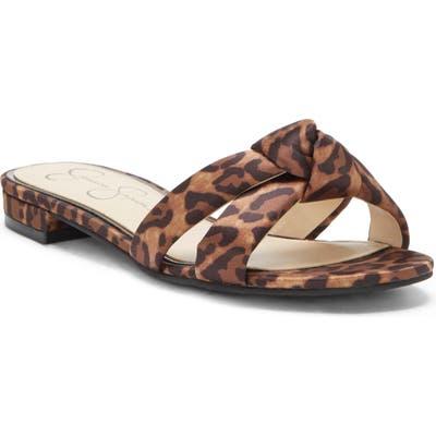 Jessica Simpson Alisen Crystal Embellished Slide Sandal, Brown