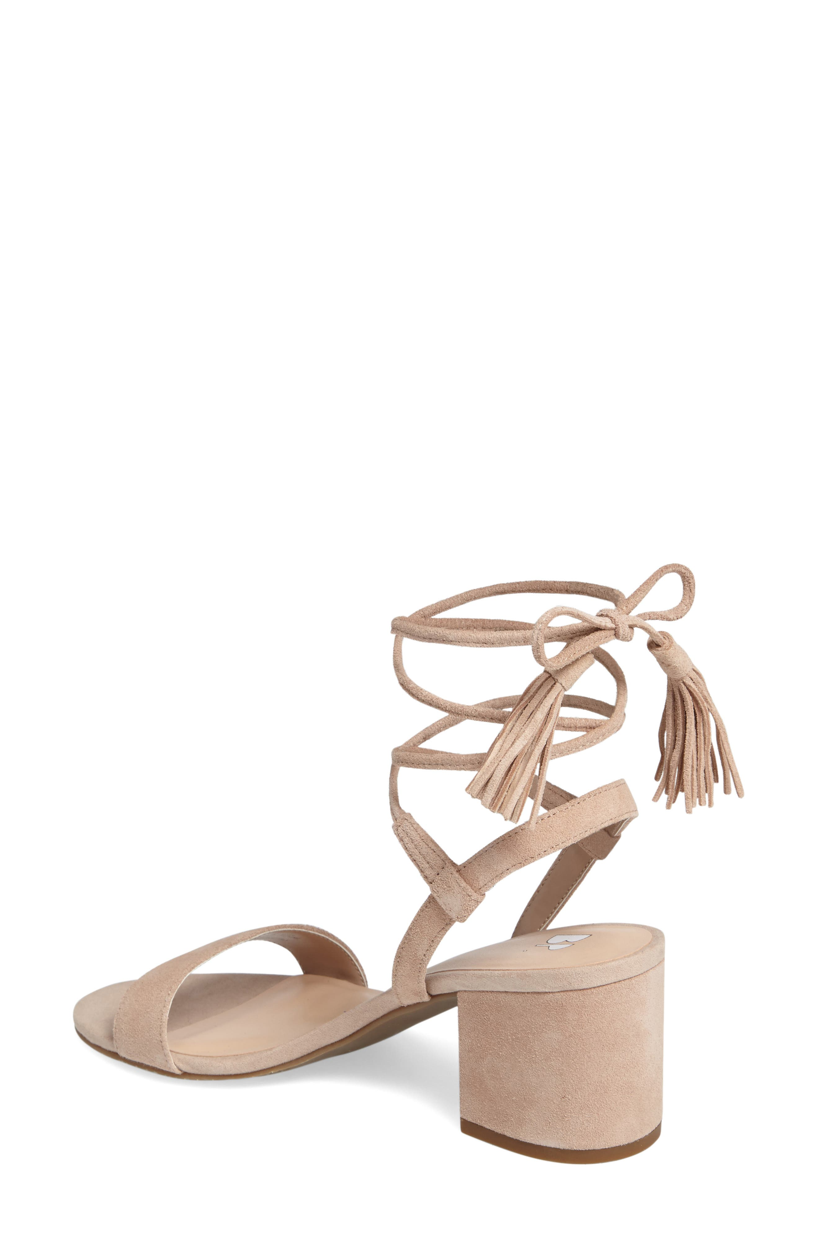 ,                             Karla Block Heel Ankle Wrap Sandal,                             Alternate thumbnail 12, color,                             651