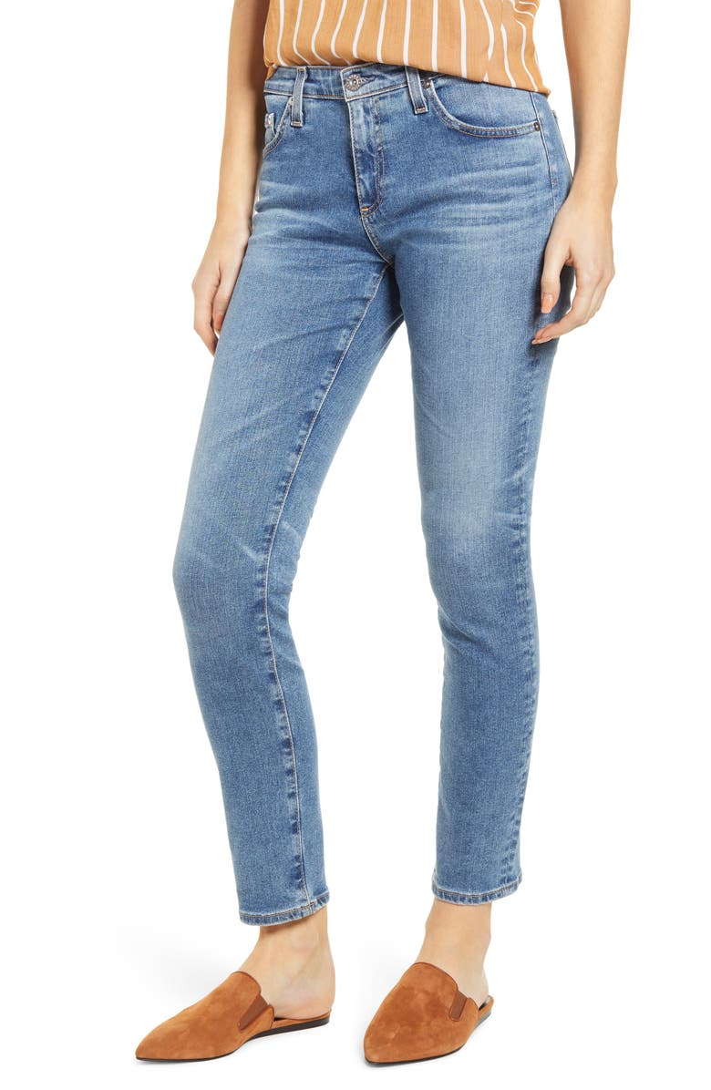 AG Prima Ankle Skinny Jeans, Main, color, 16 YEARS ELECTRIFY