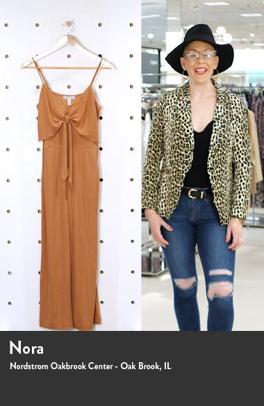 Sleeveless Tie Front Jumpsuit, sales video thumbnail