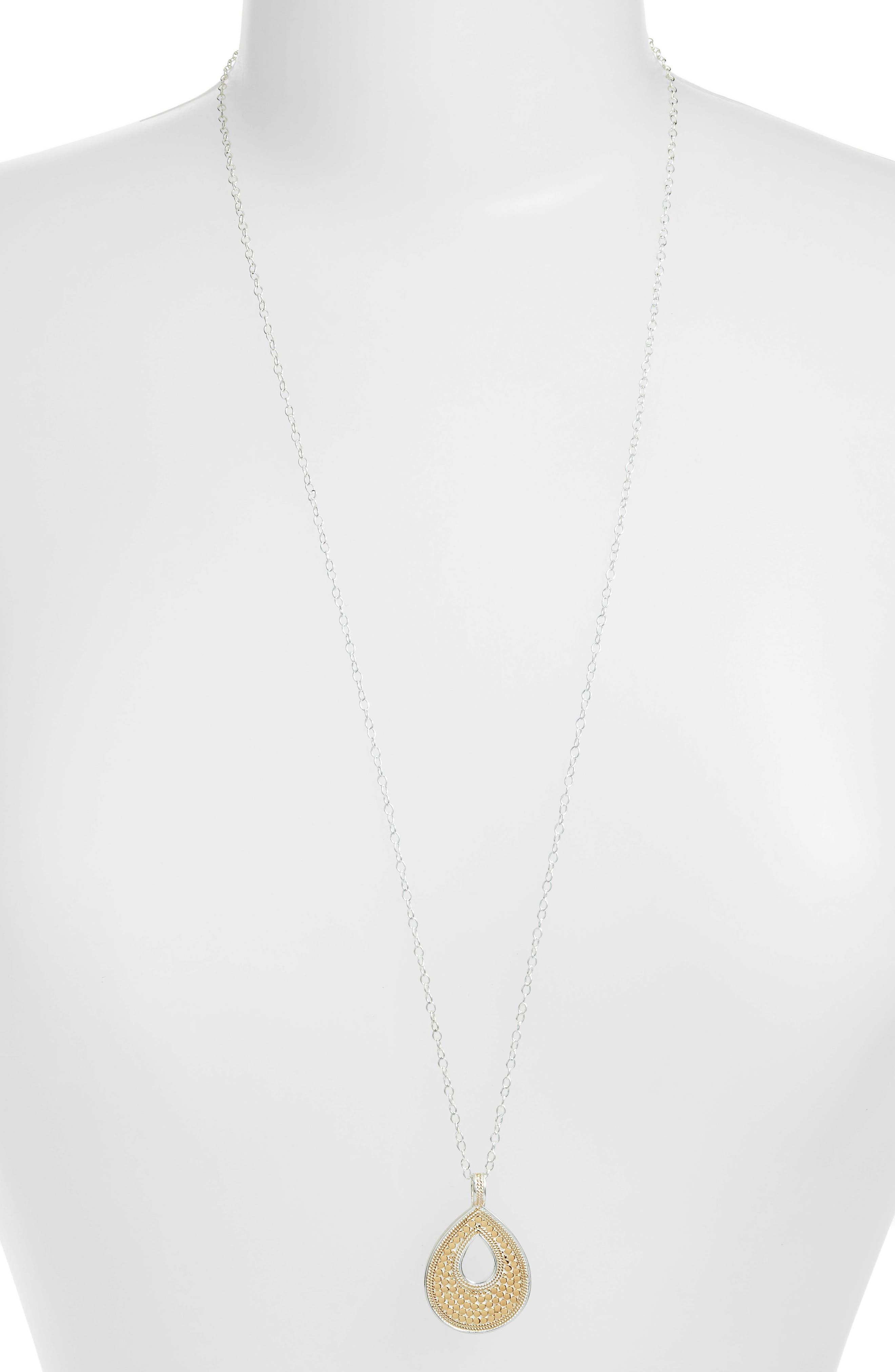 Long Reversible Teardrop Pendant Necklace (Nordstrom Exclusive)