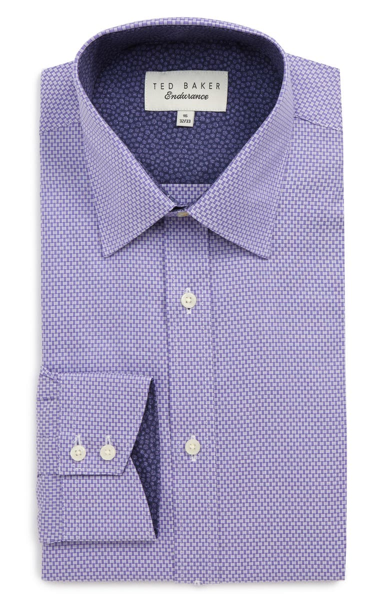TED BAKER LONDON Endurance Extra Slim Fit Geometric Dress Shirt, Main, color, 510